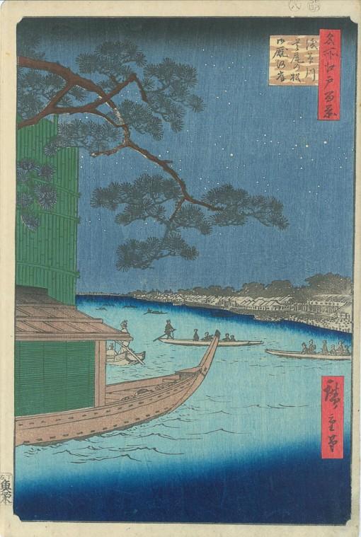 HIROSHIGE Asakusa gawa