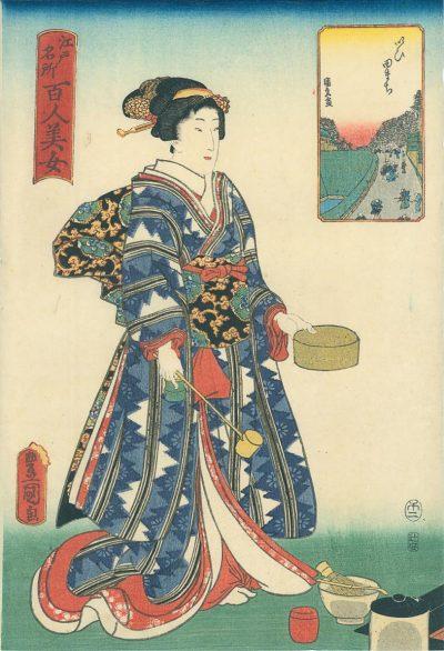 KUNISADA Print - Titled Iidamachi
