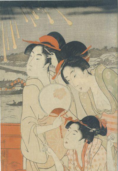 UTAMARO Ryogoku Hanabi no zu