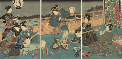 KUNISADA Geisha Triptych