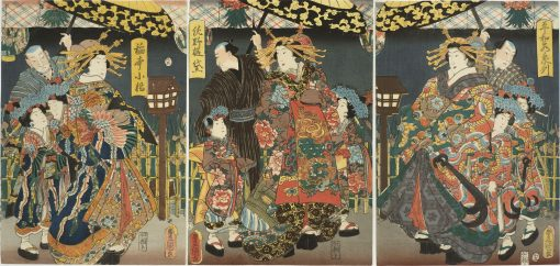 KUNISADA Three Courtesans