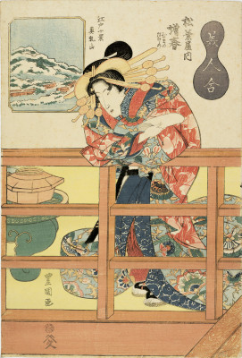 TOYOKUNI II Courtesan Matsuharu
