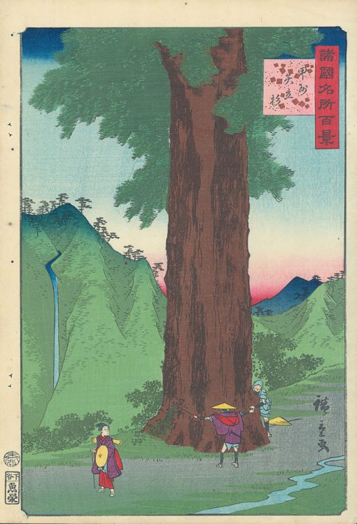Hiroshige II Koshu Yayate sugi