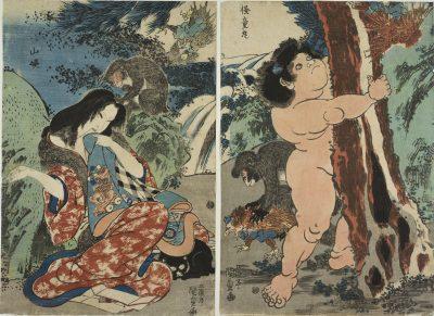 KUNISADA Yamauba and Kintaro