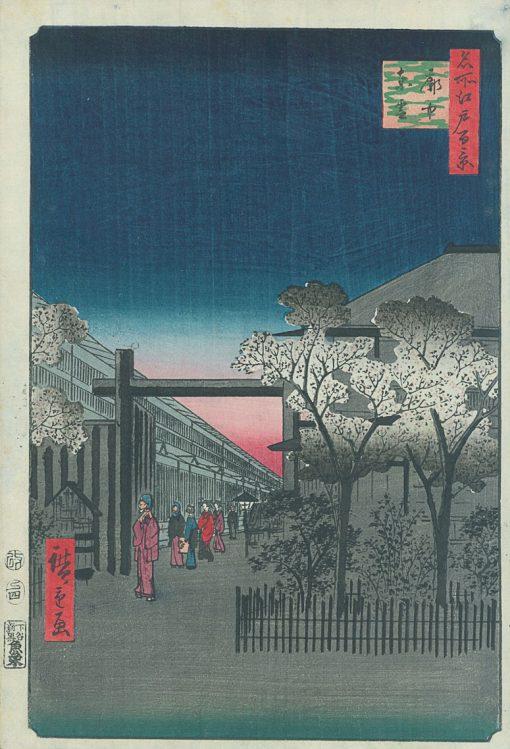 Hiroshige Dawn in Yoshiwara
