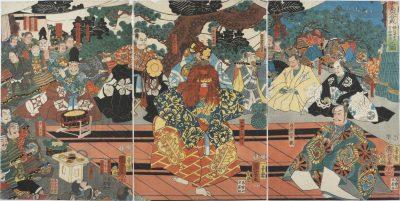 KUNIYOSHI - Kenshin Saijozan