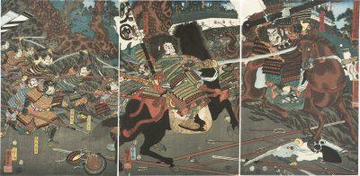 Kuniyoshi Kurikara-deni