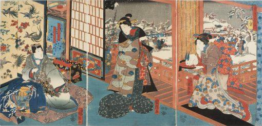 Kuniteru snow triptych