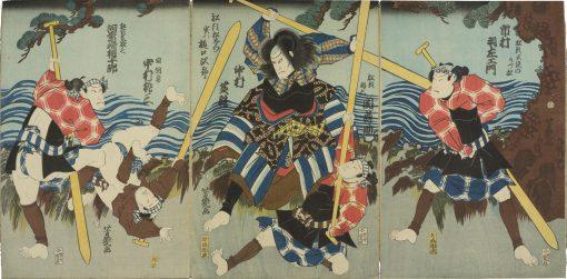 Yoshiiku triptych