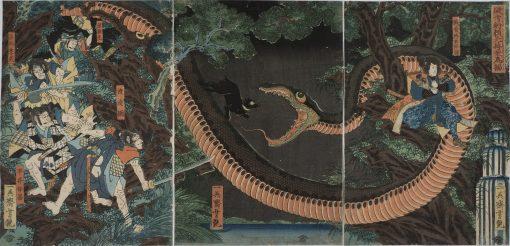 yoshitsuya snake triptych