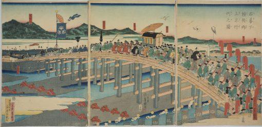 HIROSHIGE II Sanjo Bridge, Kyoto