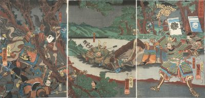 KUNIYOSHI Battle of Kurikaradani