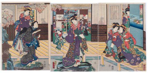 Kunihiko teahouse triptych
