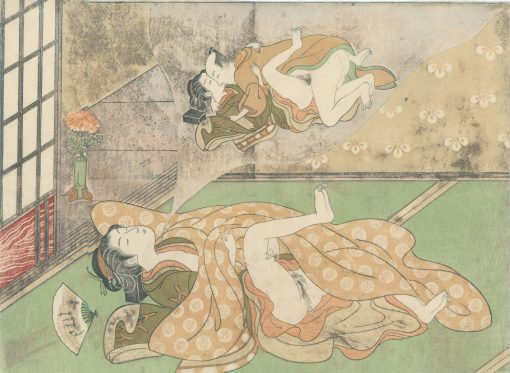 Harunobu Woman dreaming of making love